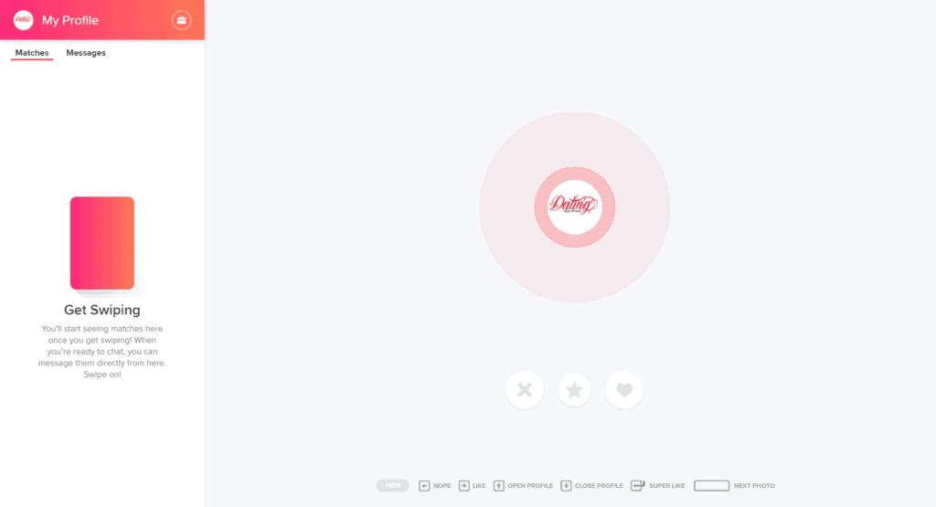 Tinder on Desktop