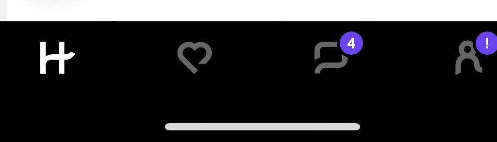 Hinge dating app number icon