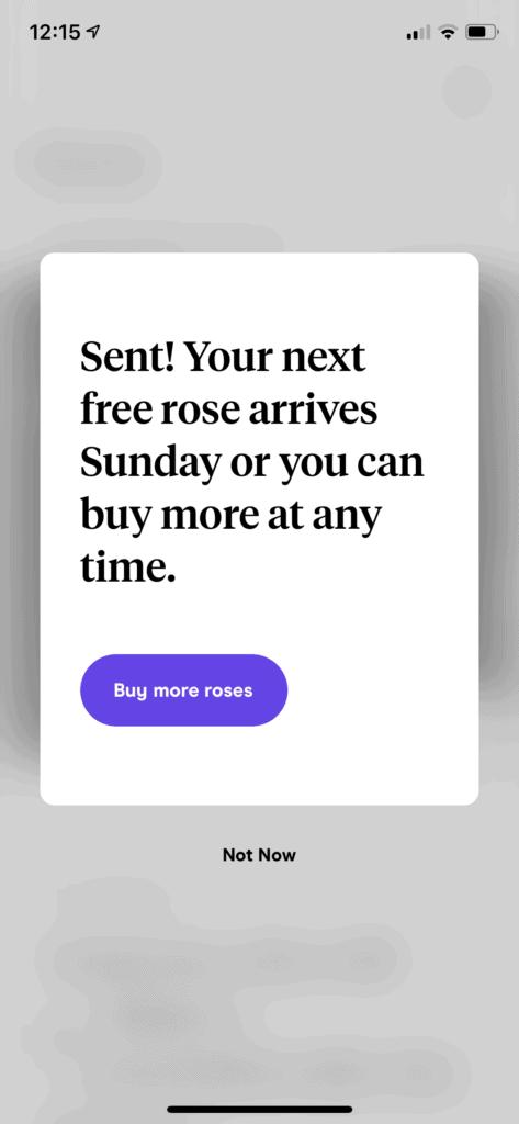 Roses on Hinge Dating app