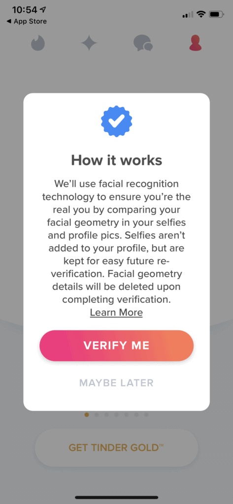 How it works getting verified on Tinder