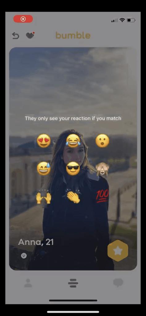 Bumble reaction emojis