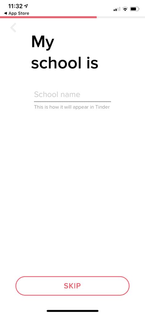 Adding School To Tinder