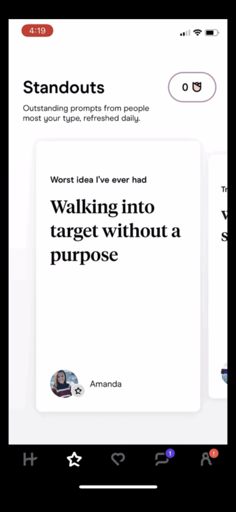 standouts on Hinge