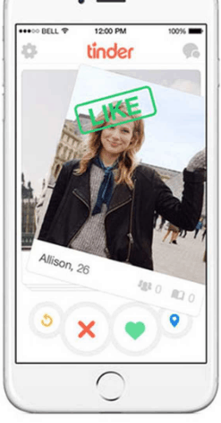 Pictures and biography on Tinder