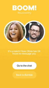 Matching On Bumble Boom Screen
