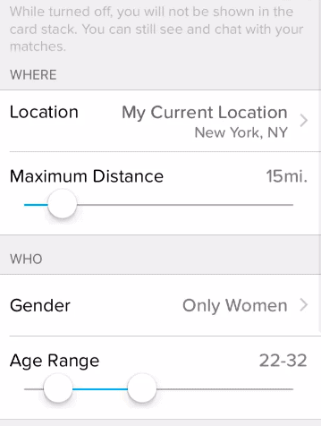 Tinder Location