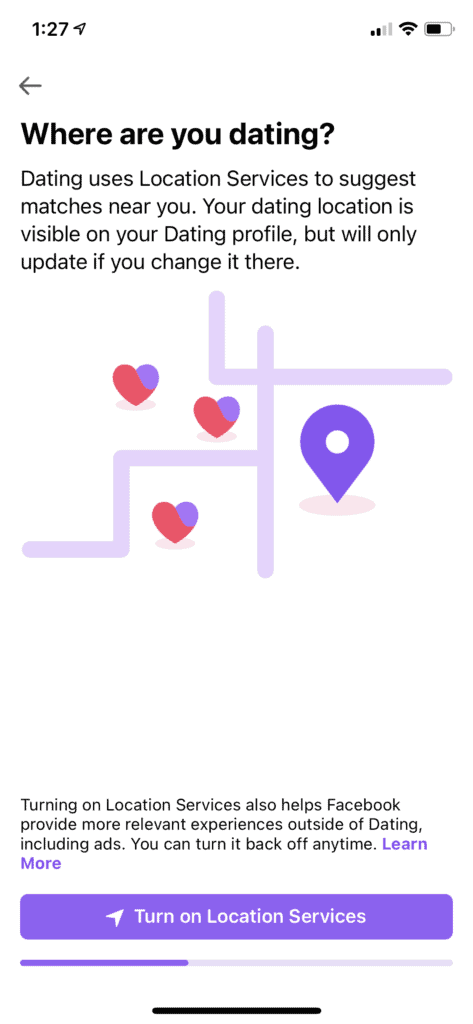 How to find the Facebook dating app | location services