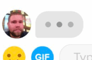 Chat bubbles on Tinder