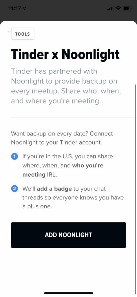 Noonlight On Tinder